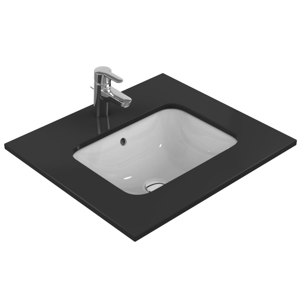 product details e5058 lavabo sous encastrer rectangulaire 500 mm ideal standard. Black Bedroom Furniture Sets. Home Design Ideas